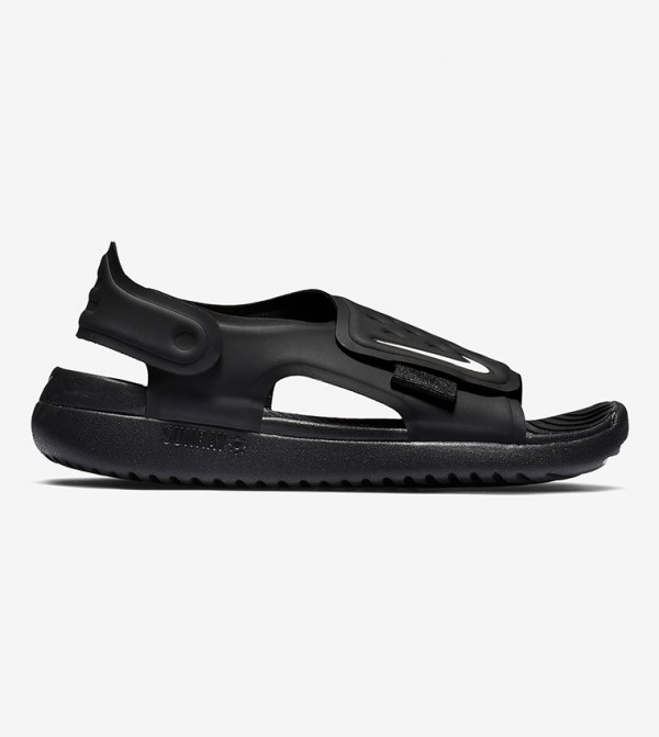 Comfort Back Closure Sandals - Black