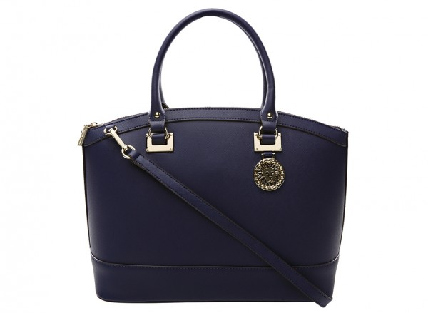 Anne Klein New Recruits Handbag Dome Satchel Lg For Women - Man Made Blue