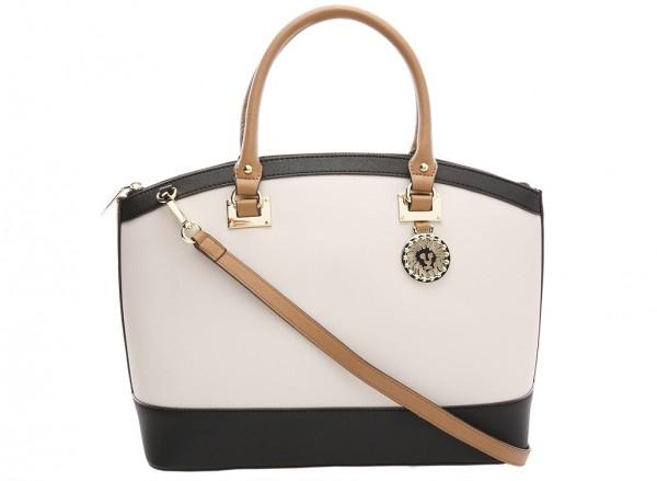 Anne Klein New Recruits Handbag Dome Satchel Lg For Women - Man Made White-AKAK60365959-MULTI