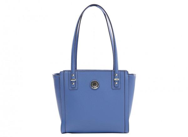 Anne Klein Front Runner Handbag Shopper Sm For Women - Man Made Blue