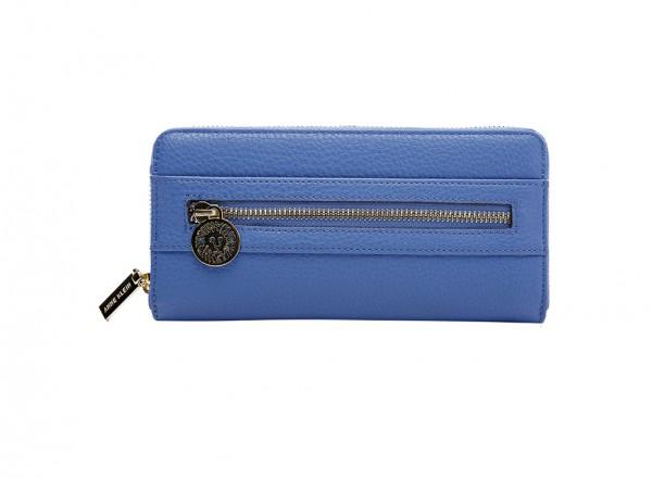 Anne Klein Front Runner Slg Handbag Zip Around Sm For Women - Man Made Blue