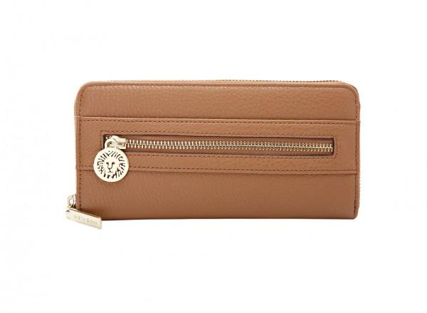 Anne Klein Front Runner Slg Handbag Zip Around Sm For Women - Man Made Brown