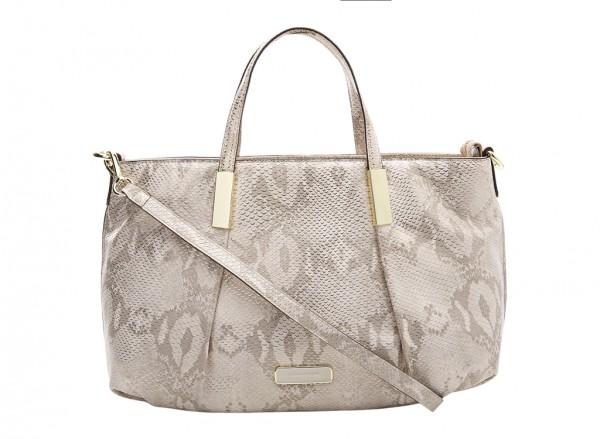 Anne Klein Style Achiever Handbag Satchel Md For Women - Man Made Metallic Gold