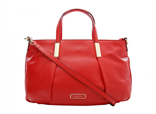 Anne Klein  Style Achiever Handbag Satchel Md For Women - Man Made Red