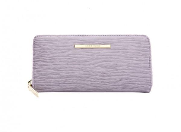 Anne Klein City Dweller Slg Handbag Zip Around For Women - Man Made Purple & Pink-AKAK60410487-PINK
