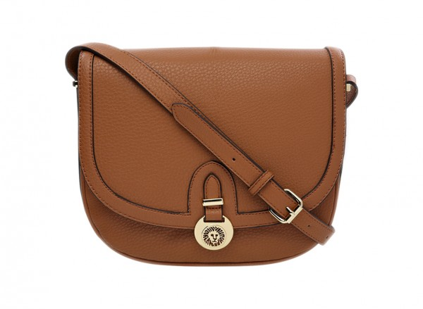 Anne Klein Front Runner Handbag Cross Body Sm For Women - Man Made Brown