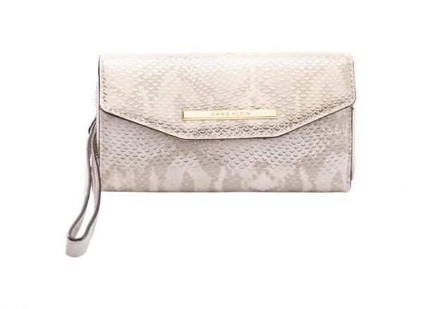 Anne Klein Style Achiever Slgs Handbag Wristlet Sf For Women - Man Made Metallic Gold-AKAK60410530-GOLD