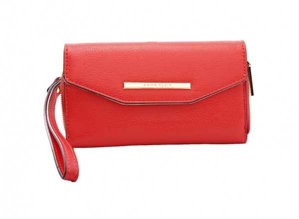 Anne Klein Style Achiever Slgs Handbag Wristlet Sf For Women - Man Made Red