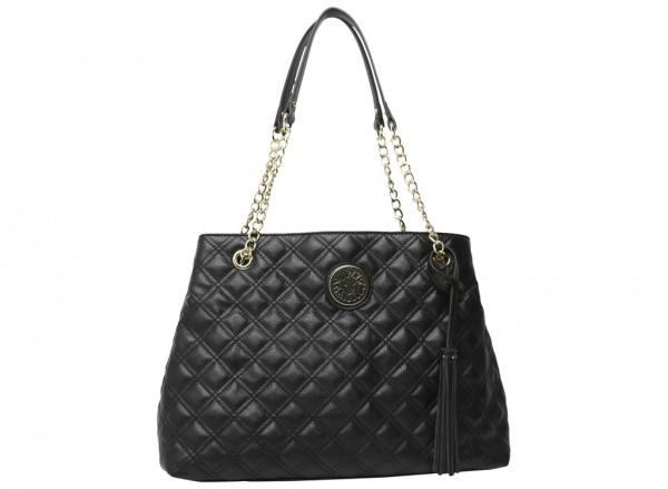 Dressed To Quilt Black Shoulder Bags & Totes-AKAK60420673
