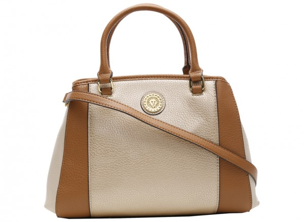 Kick Start Beige Satchels-AKAK60425987