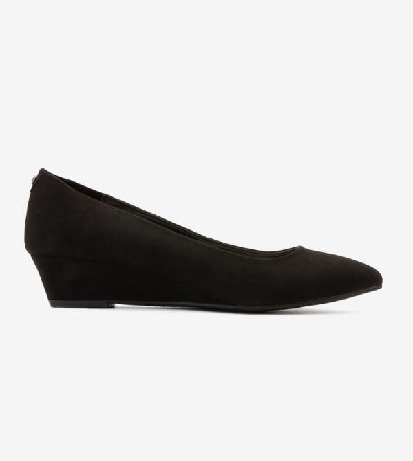 حذاء بكعب سميك لون أسود