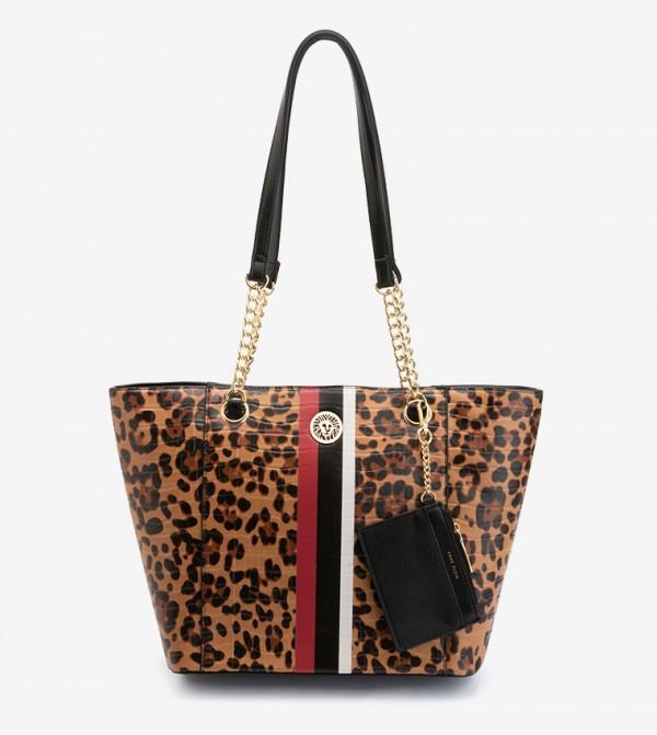 حقيبة يد مع محفظة صغيرة بألوان متعددة