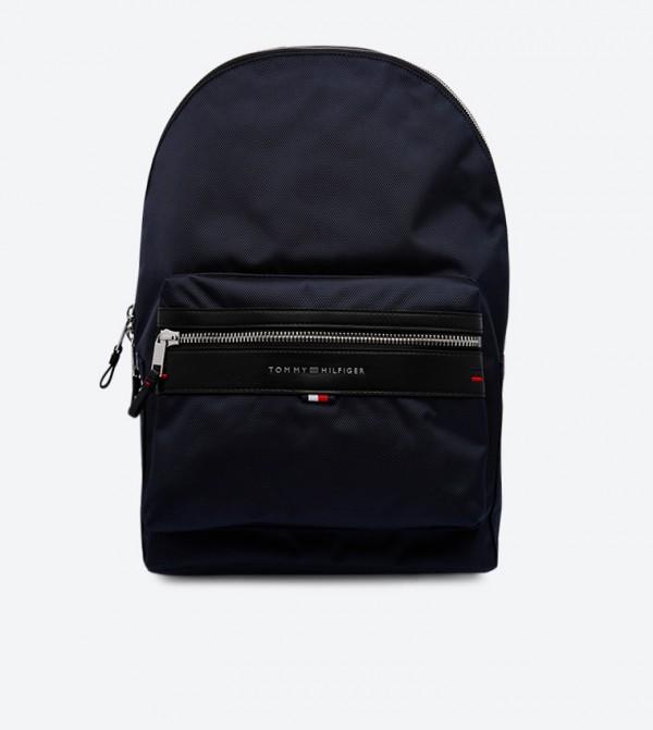 Elevated Double Shoulder Strap Backpack - Navy