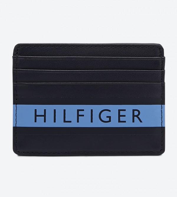 حافظة بطاقات متعددة الفتحات لون أسود