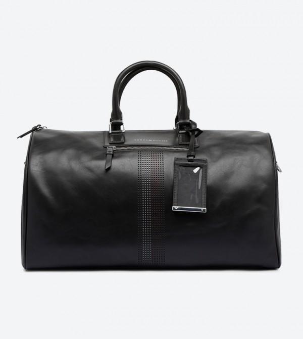 Business Dual Grab Handle Duffle Bag - Black