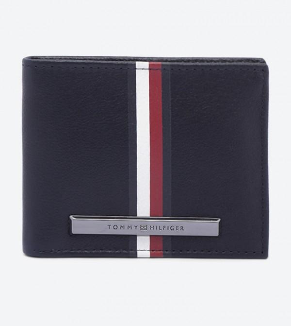 Corporate Stripe Mini Credit Card Wallets - Blue