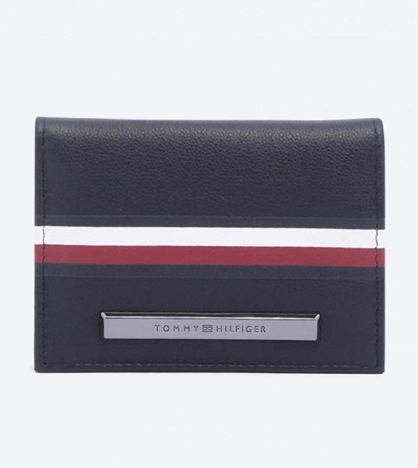 Corporate Plaque Stripe Bifold Wallets - Blue