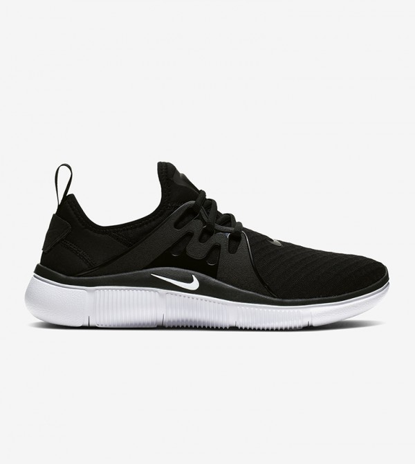 Logo Print Lace Up Sneakers - Black