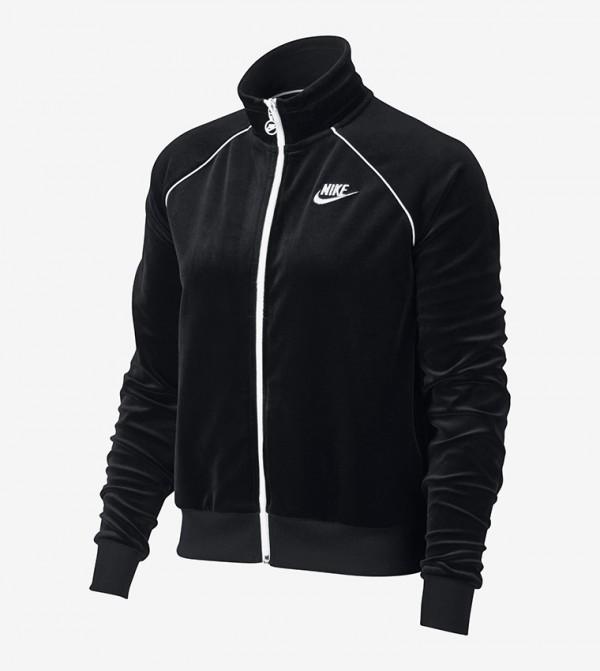 Logo Print Track Jackets - Black