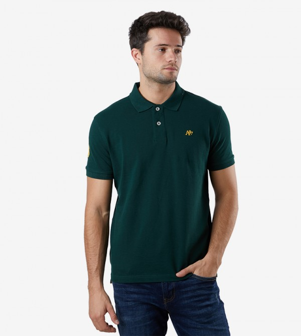 Solid Polo T-shirt - Green