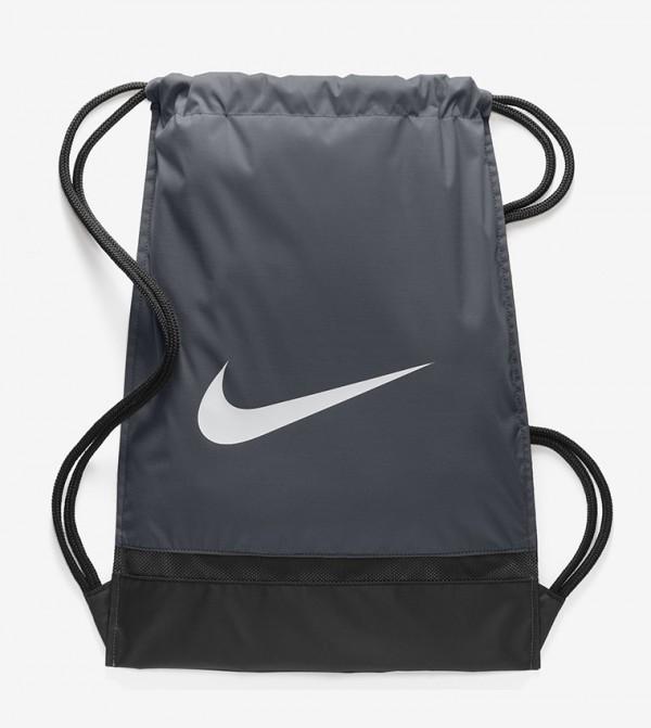Drawstring Closure Backpack - Grey