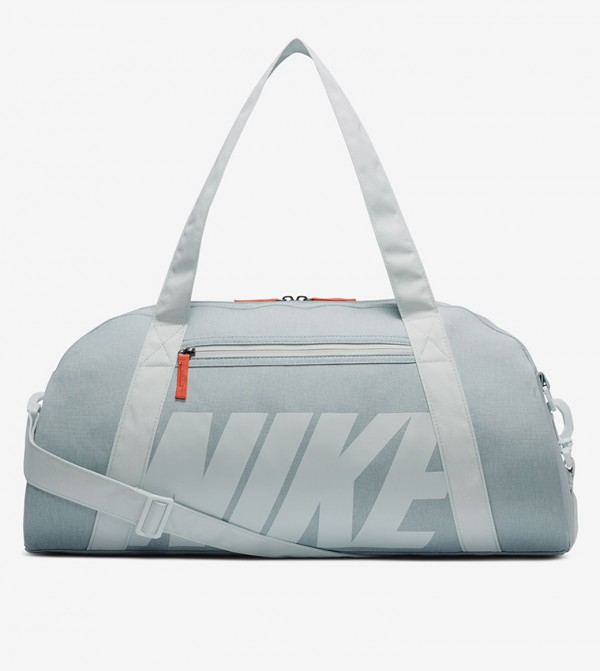 Printed Multiple Pockets Duffle Bag - Blue