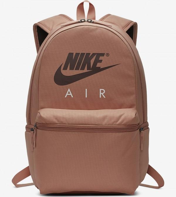 Multiple Pockets Zip Closure Backpack - Pink