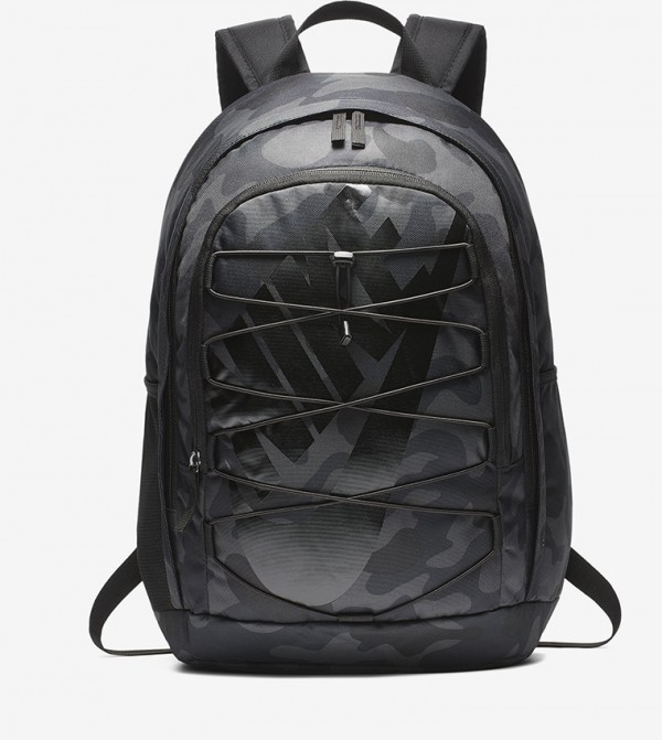 Camouflage Print Multiple Pockets Zip Closure Backpack - Black