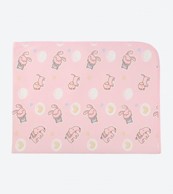 Elephant Print Waterproof Blanket - Pink