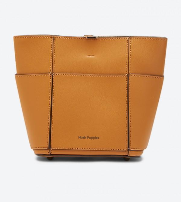 Hartel Adjustable Shoulder Strap Bucket Bag - Yellow