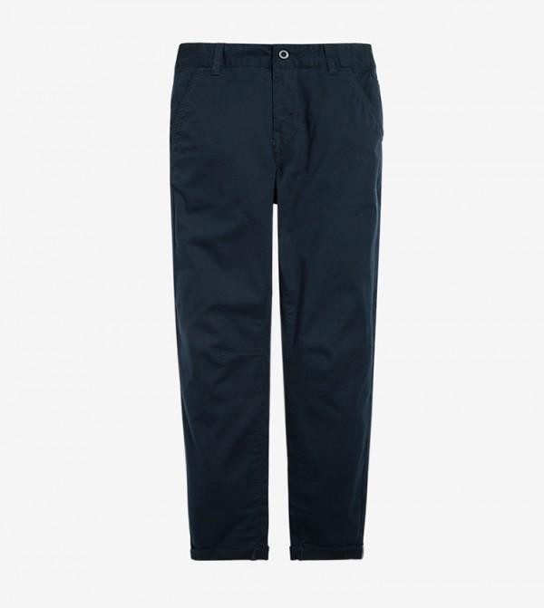 Elasticated Waistband Drawsting Closure pant - Blue