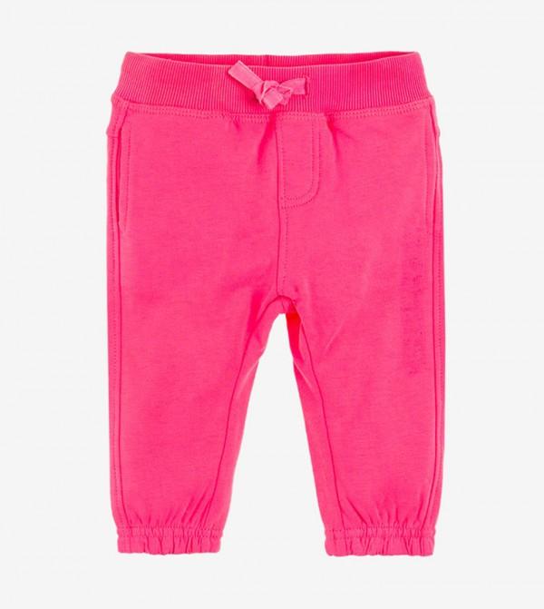 Elasticated Waistband Drawsting Closure pant - Pink