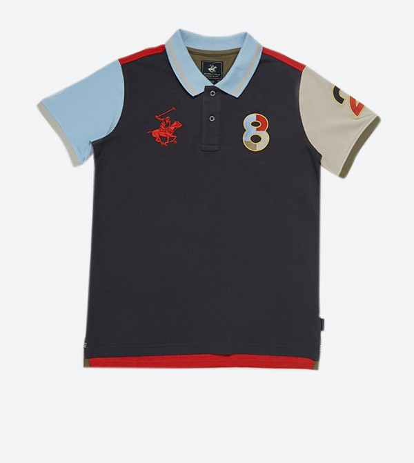 Slipper Slope Short Sleeve Polo Shirt - Multi