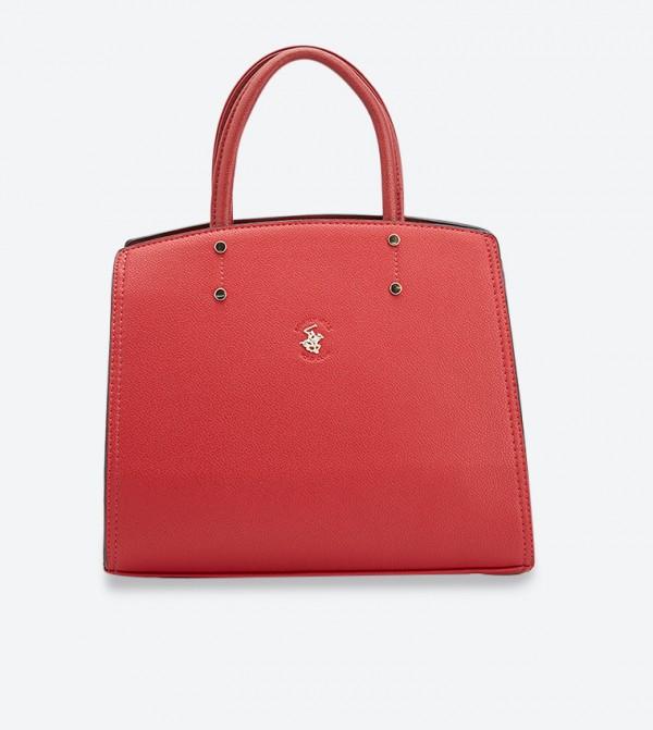 حقيبة يد إيف بلون أحمر داكن