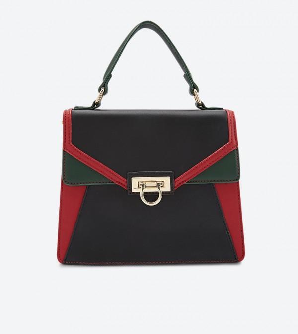 حقيبة بحمالة كتف طويلة لون أحمر