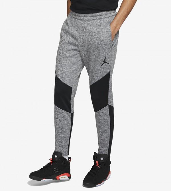 Logo Print Pants - Grey
