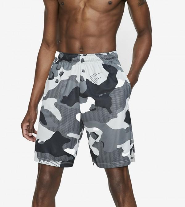 Logo Print Shorts - Grey