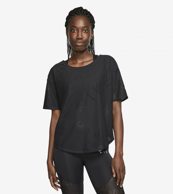 Logo Print T-shirt - Black