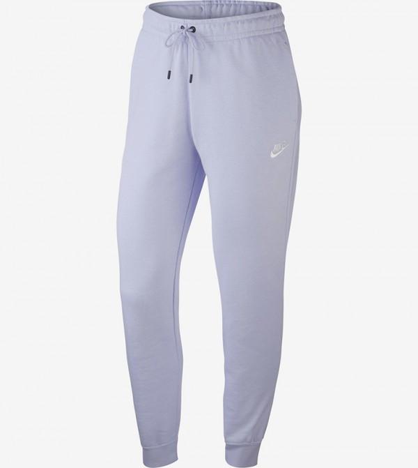 Logo Print Pants - Purple