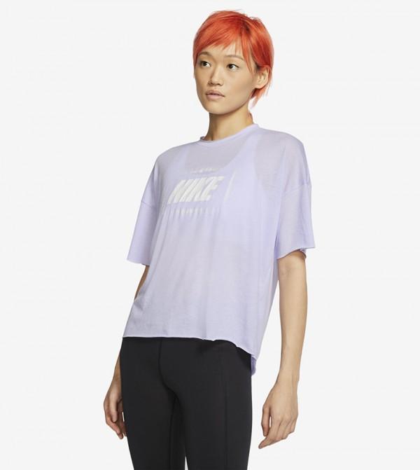 Logo Print T-shirt - Purple