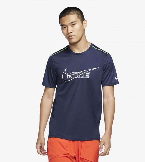 Logo Print T-shirt - Blue