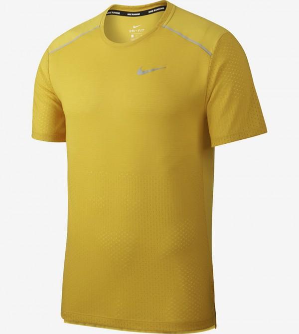 Logo Print T-shirt - Yellow