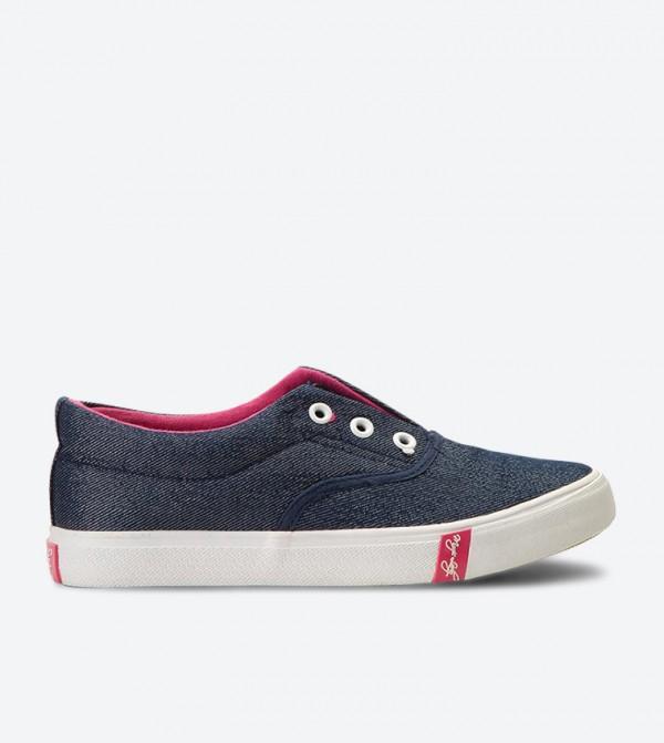 حذاء سهل الإرتداء بلون كحلي