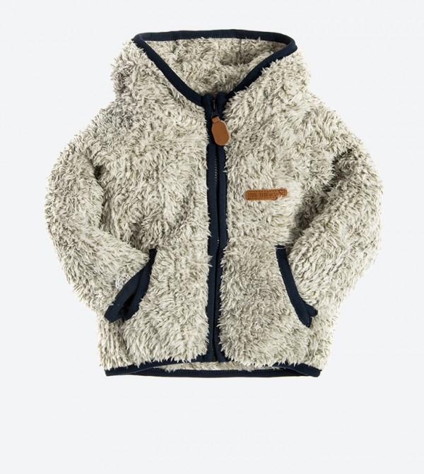2-Pockets Long Sleeve Hooded Sweatshirt - Grey
