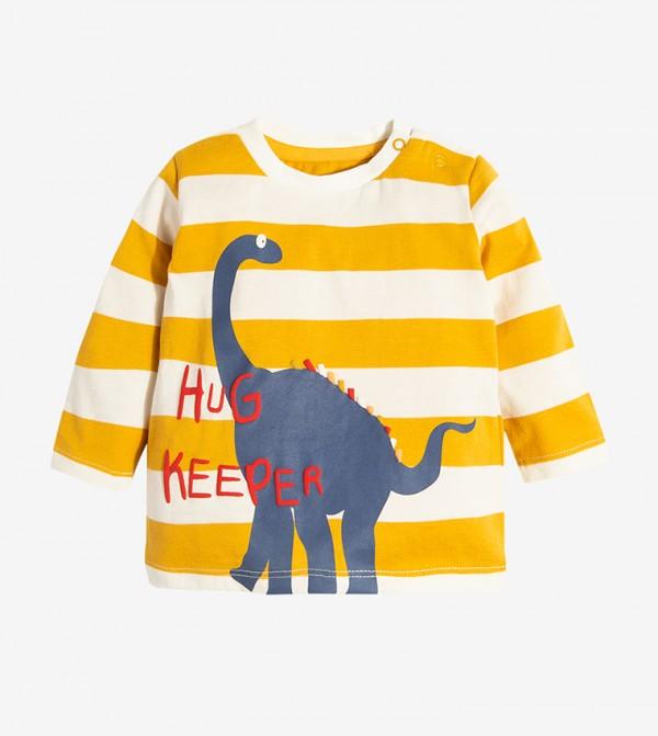 Short Sleeve Round Neck Tshirt - Yellow