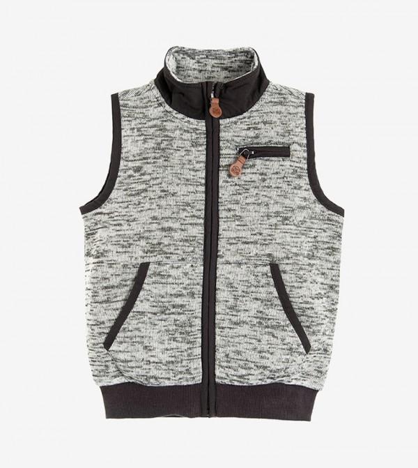 Long Sleeve hooded neck Jacket - Grey
