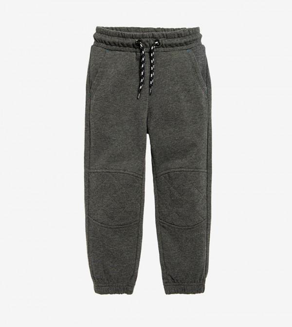 Elasticated Waistband Drawsting Closure pant - Grey