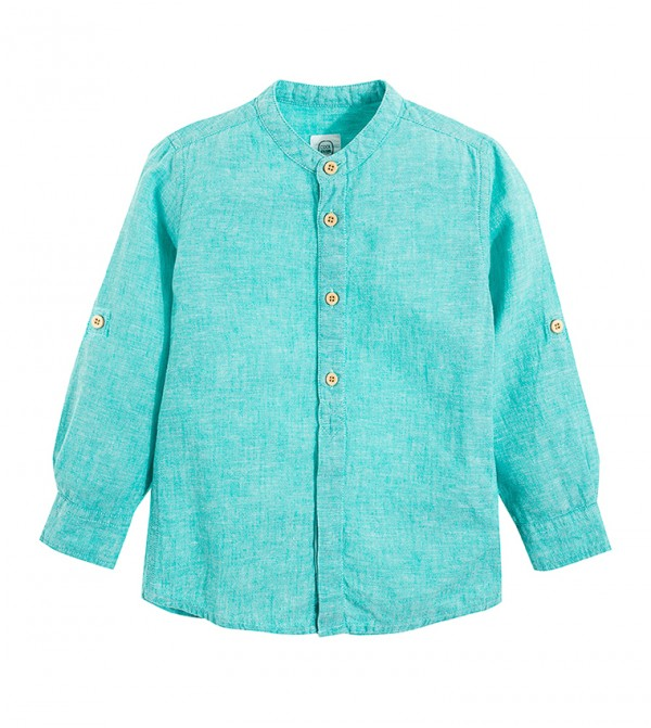 Shirt L/S-Turquoise