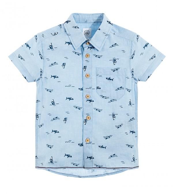 Shirt S/S-Light Blue