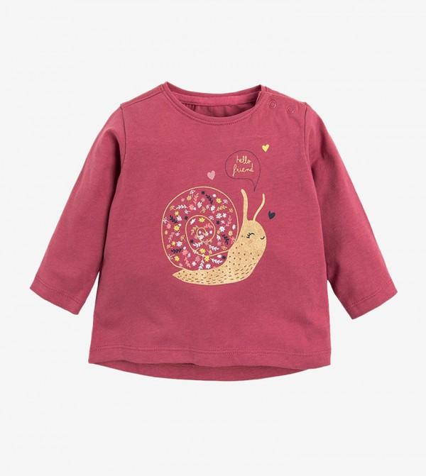 Short Sleeve Round Neck Tshirt - Pink